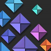Colorful Folded Paper Background, vector eps10 illustration