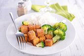 tofu, broccoli and rice