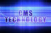 CMS Technology on a Tech Business Chart Art