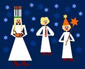 Saint Lucia nordic christmas traditional figures