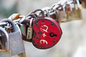 stock photo of initials  - Padlocks with initials which symbolize eternal love - JPG