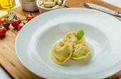 Homemade Tortellini Stuffed With Spinach And Garlic