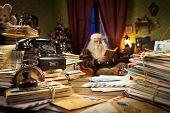 Messy Santa Claus Desk