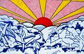 Street art Montreal sun