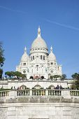 An image of the famous Sacre Coeur in Paris France