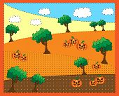 Picture of trees a pumkins