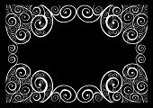 Vintage swirly frame (black and white)