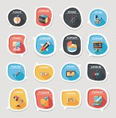 School Bubble Speech Banner Design Flat Background Set, Eps10
