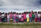 Zulu Children waiting for Christmas gifts.