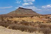 Panorama Of Fantrastic Namibia Landscape