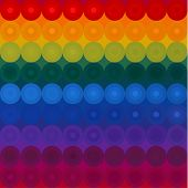 Colorful background with circles abstract pattern