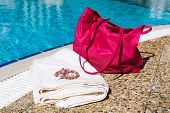 Beach Accessories At The Pool