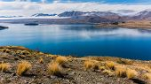 Stunning view over Lake Tekapo in New Zealand