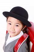 Japanese Schoolgirl With Red Satchel