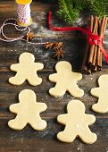 Gingerbread Man. Making Gingerbread Cookies.