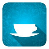 espresso flat icon, christmas button, caffe cup sign