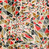 Vector abstract geometric seamless pattern from polygons