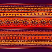 Abstract hand-drawn ethno pattern, tribal background.