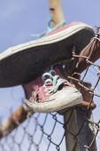 Постер, плакат: Old Worn Sneakers