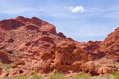 image of valley fire  - Red rocks in Valley of fire State park in Nevada - JPG