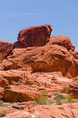 pic of valley fire  - Red rocks in Valley of fire State park in Nevada - JPG