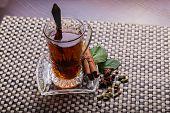 foto of iced-tea  - Tea with lemon - JPG