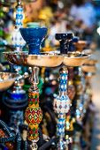 foto of bong  - traditional arabic shisha pipes hookah - JPG