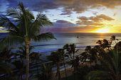 sunset at kaanapali beach