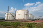 image of gas-pipes  - gas processing factory - JPG