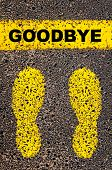 stock photo of goodbye  - Goodbye message - JPG