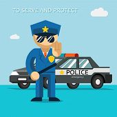 stock photo of police  - Serve and protect - JPG