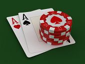 pic of ace spades  - chips of casino and aces - JPG
