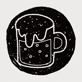 image of drawing beer  - Beer Doodle Drawing - JPG