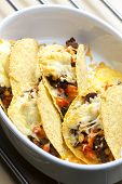 picture of meats  - baked tacos filled with minced beef meat - JPG