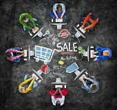 stock photo of revenue  - Sale Sales Selling Finance Revenue Money Income Payment Concept - JPG