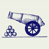 foto of cannon-ball  - Cannon - JPG