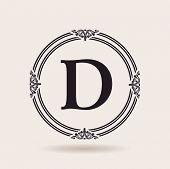 picture of letter d  - Vector frames design templates - JPG