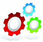 pic of rework  - Various gear wheel rack wheel vector graphics - JPG