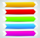 foto of arrowhead  - Horizontal banner or button templates with blank space for your message  - JPG