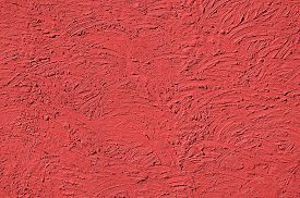 stock photo of errat  - The texture of Light red walls painted large erratic strokes of pain - JPG