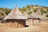 Traditional African Huts, Namibia