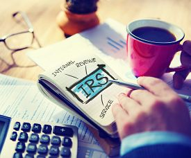 foto of irs  - Internatl Revenue Service IRS Finance Taxation Government Concept - JPG