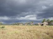 Lodge Cabins On The African Landscape