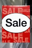 Sale sign in the window