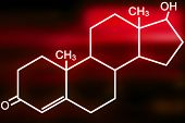 Testosterone molecule illustration