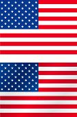 Accurate and light brushed USA flag