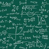 Vector illustration of seamless math background
