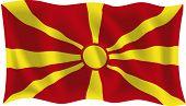 Vector illustration of Macedonian flag