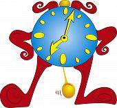 Antiguo reloj de personaje de dibujos animados de pie
