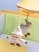 toys near baby bed
